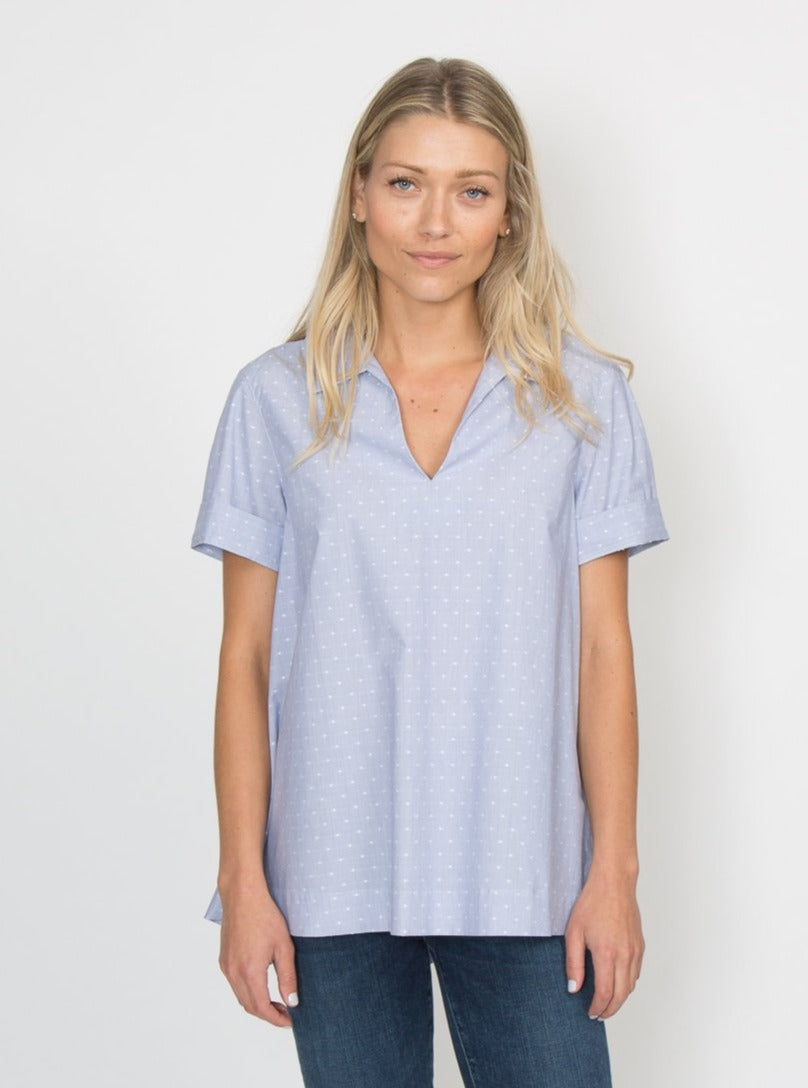 Rochelle Top - Blue Dot