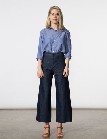Angela Pant - Navy Canvas