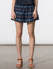 Bethany Short - Embroidered Stripe