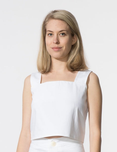 Caroline Top - White Denim