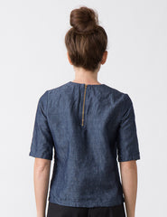Cat Top - Chambray