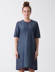 Cat Dress - Chambray