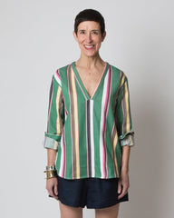 Carol Top - Green Stripe