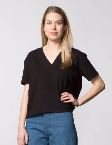 Stephanie Top - Mocha Poplin