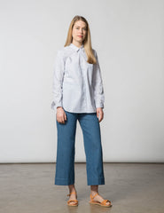 Jane Top - Light Blue Stripe