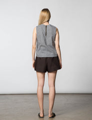 Kaya Top - Black & White Check