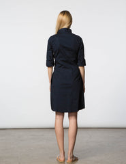 Lauri Dress - Navy Poplin