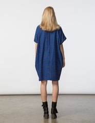 Mary Dress - Blue & Black Check