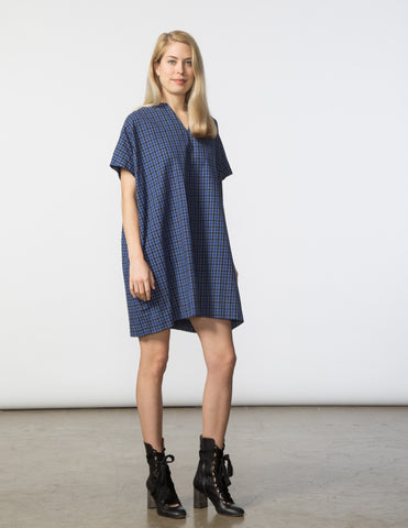 Mary Dress - Blue Check