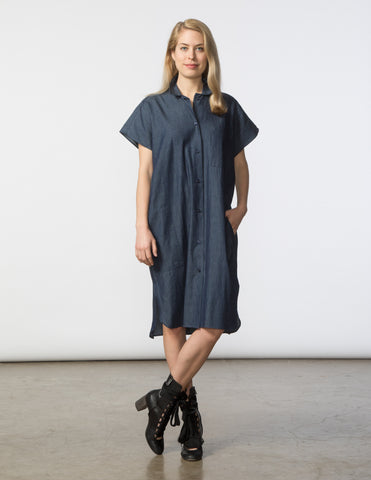 R Dress - Dark Denim