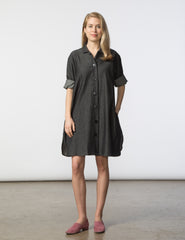 Stacey Dress - Black Denim