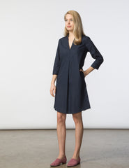 Lizzie Dress - Navy Poplin