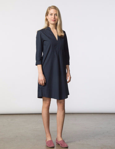 Lizzie Dress - Black Poplin