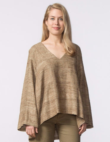 Pamela Top - Natural Woven Silk