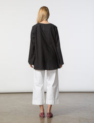 Pamela Top - Black Japanese Woven
