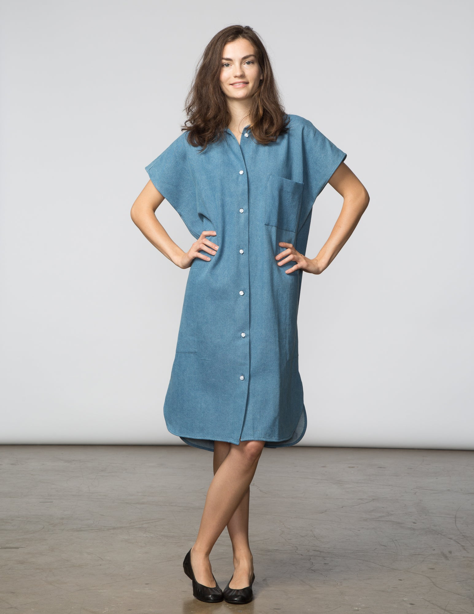 R Dress - Light Denim