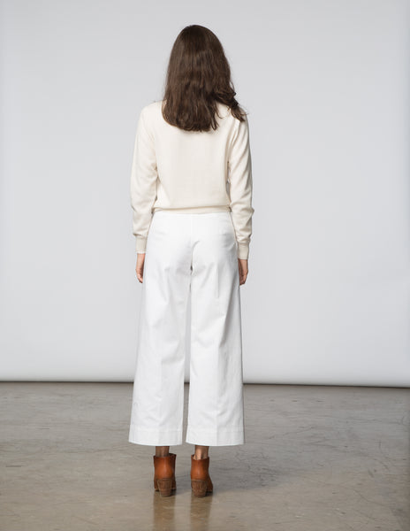Angela Pant - White Denim