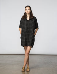 Mandy Tunic - Black & White Window Pane