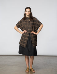 Mandy Tunic - Brown & Black Plaid