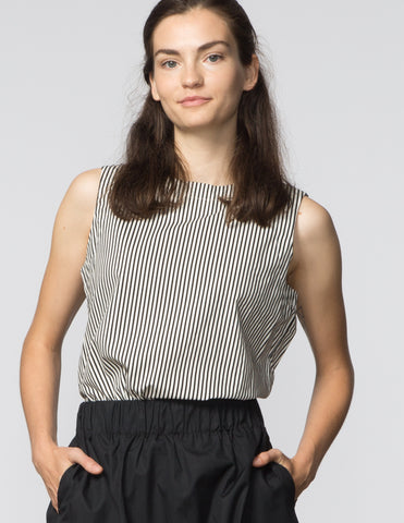 Kaya Top - Black & White Stripe