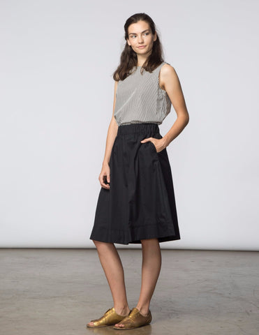 Alex Skirt - Black Poplin