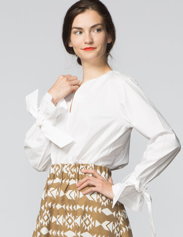 Jess Top - White Poplin
