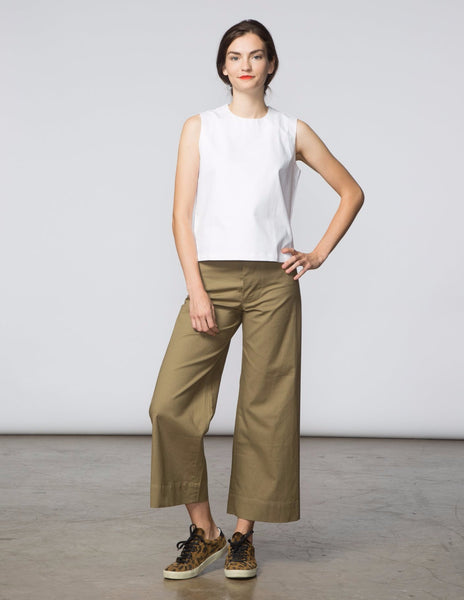 Angela Pant - Army Green Canvas