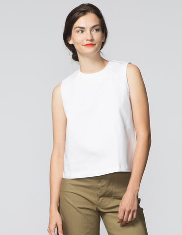 Kaya Top - White Denim