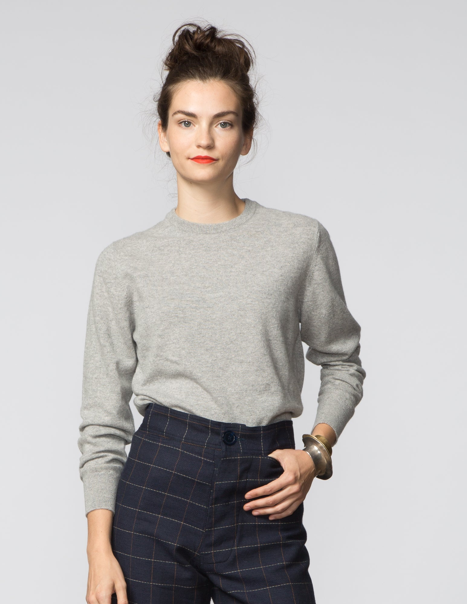 Crewneck Cashmere Sweater - Light Grey