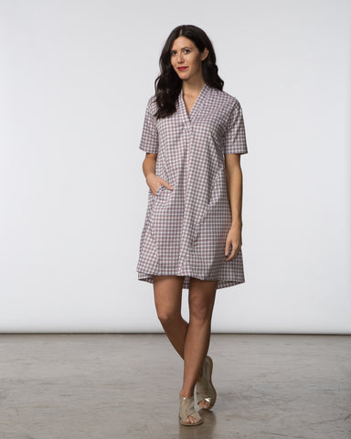 Stacey Dress - Navy Poplin