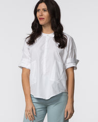 Isabel Top - White Poplin