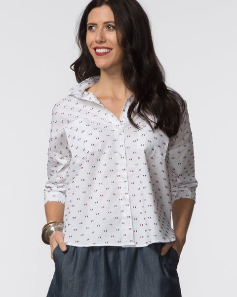 Stephanie Top - Swiss Dot