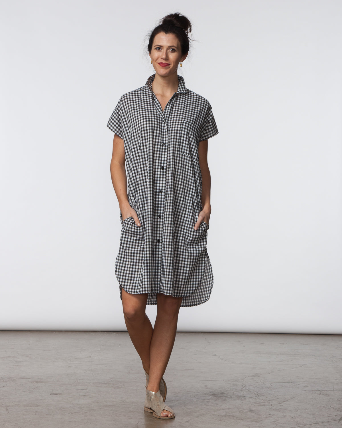 R Dress - Black & White Gingham