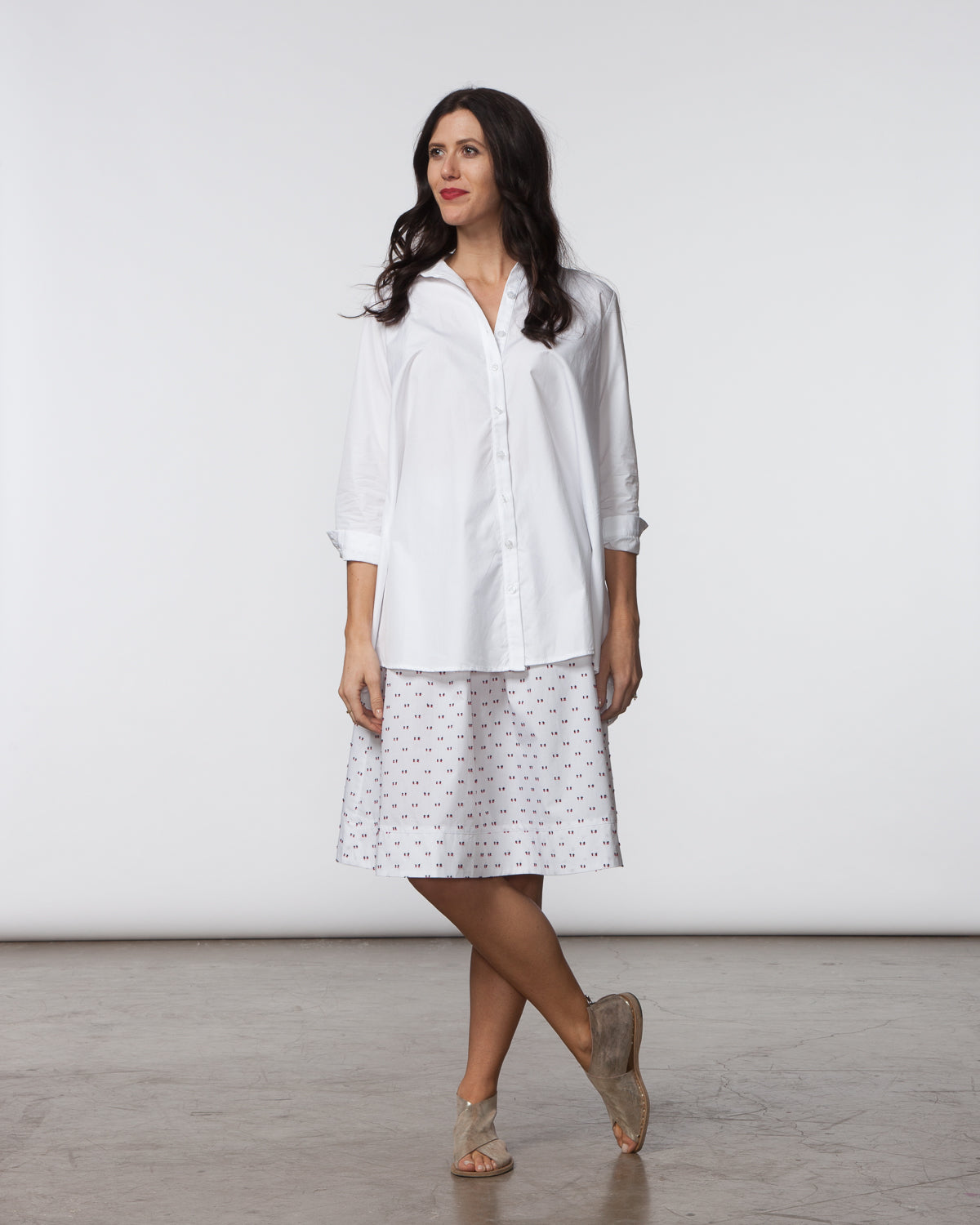 Carl Top - White Poplin