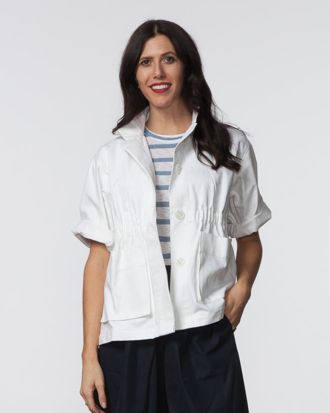 Kim Jacket - White Canvas
