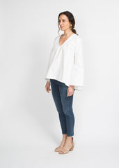 Pamela Top - White Denim