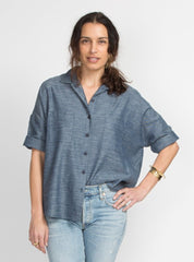 Stephanie Top - Blue Woven