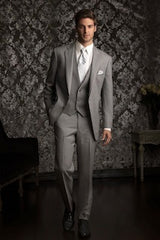 heather gray tux rental