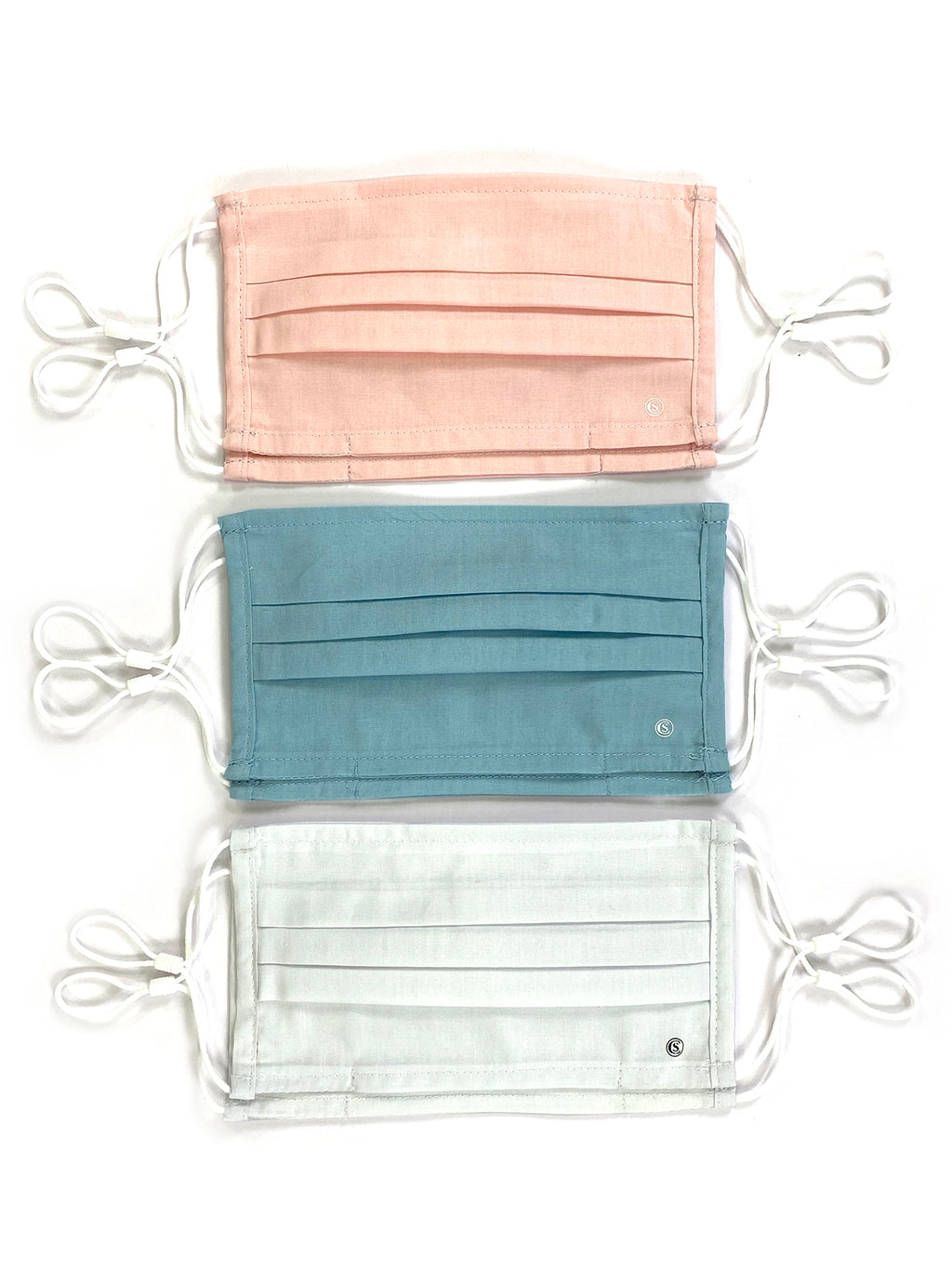 Essential Pleated Adult Face Mask 6 Pack-Pastel