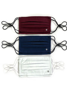 Essential Pleated Kids Face Mask 6 Pack-America Solids