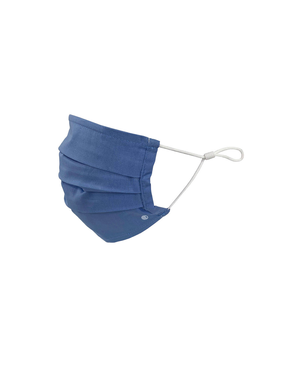 Essential Pleated Kids Face Mask 6 Pack-Blue Solids