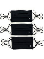 Essential Pleated Adult Face Mask 6 Pack-Solid Black