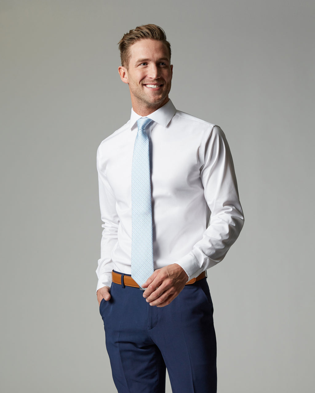 Tempo Stretch Slim Fit Dress Shirt - Kater Shop