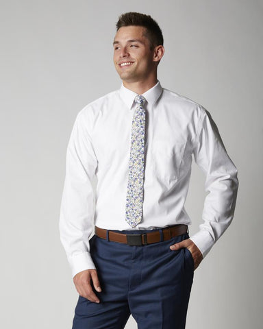 Tailored Athletic Fit Long Sleeve Non-Iron Dress Shirt