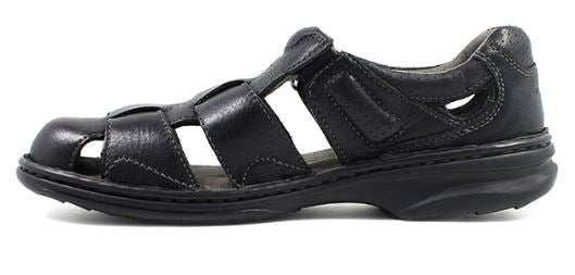 Florsheim Black Getaway Fisherman Sandal - Kater Shop