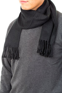 Black Acrylic Winter Scarf - Kater Shop