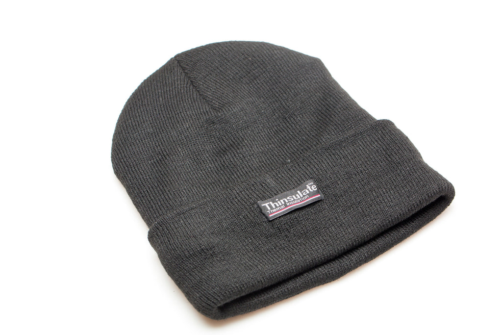 Black Fleece Lined Beanie - Kater Shop