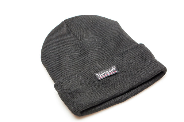 Black Fleece Lined Beanie
