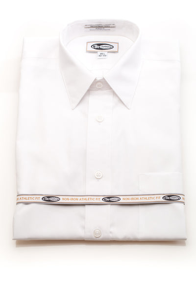 Tailored Fit Short Sleeve Missionary Non-Iron Dress Shirt by CTR Clothing