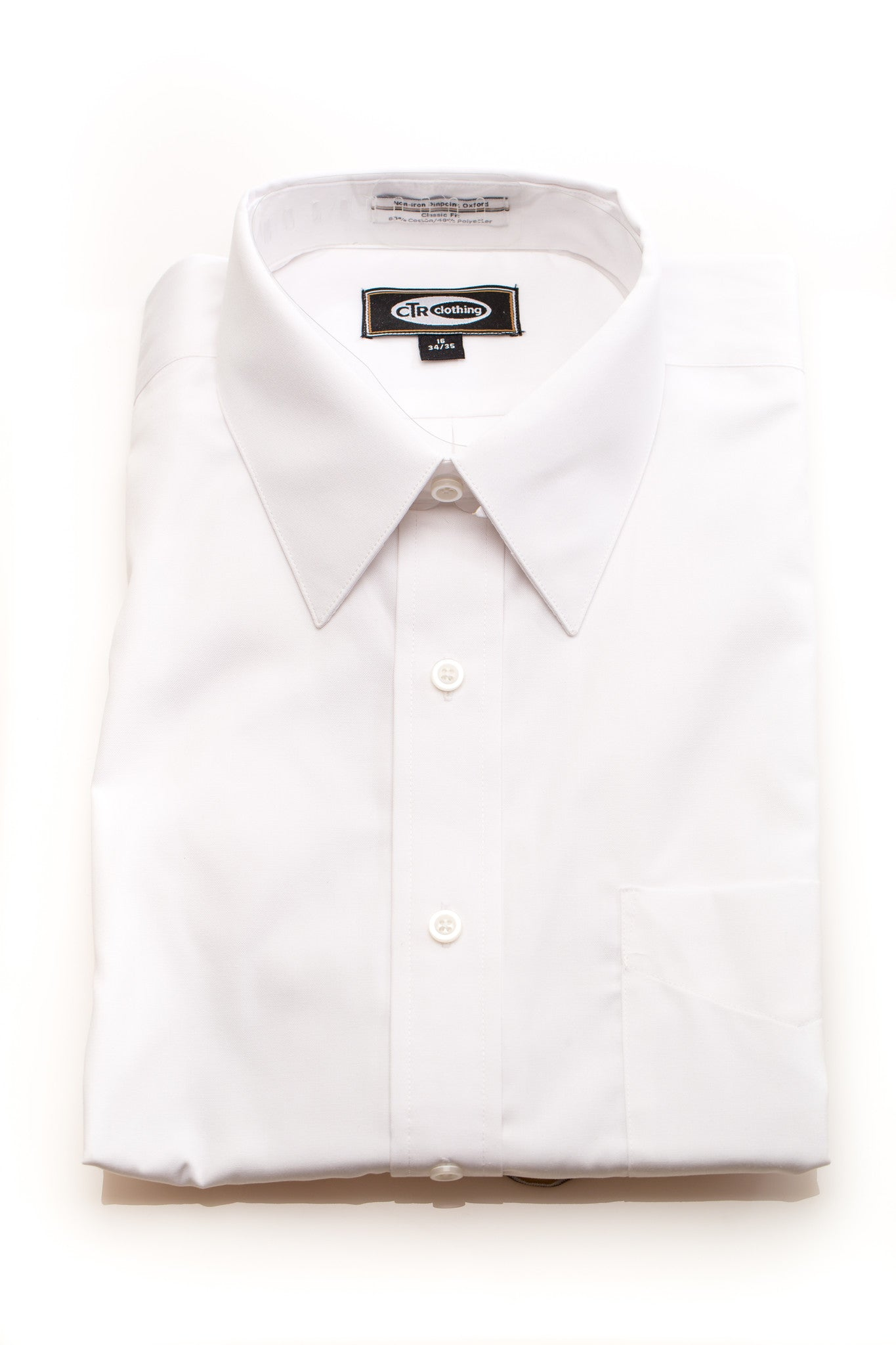Classic Fit Non-Iron Short Sleeve Dress Shirt by CTR Clothing - Kater Shop
